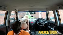Fake Driving School Sexy jealous twin loves a good backseat fuck and facial