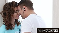 Intensely Passionate Sex with Tall Teen GF Gisha Forza Ends with a Creampie