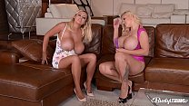 Busty lesbians Katie T. & Dolly Fox lick their shaved pussies all day long pornhub video