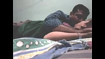Desi couple enjoying in hotel room
