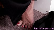 feet in puddle of cum - dogging girls