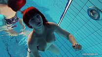 16550 Redheaded Katrin is stripping underwater preview