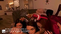 VR BANGERS Busty elves riding under christmas tree