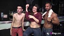 A lesbian babe, a Gay dude and Jordi Enp have a threesome together Vorschaubild