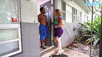 Landlord Sara Jay Cums To Collect Rent At All C