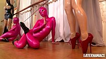 Latex Lucy Dominates Blue Angle As They Fetish Play And Dildo Fuck [라텍스 Latex]