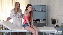 Domina Milf Doc Kayla Greenchokes & spanks submissive patientMisha Cross Image
