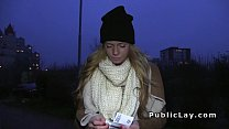 Euro blonde fucking in the park pov at night Preview