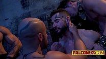 Naughty guys love group gay domination