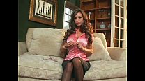 Crissy Moran tease in stockings a garter and heels thumbnail