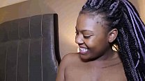 the sexy newbie ebony lashay cant handle 6inch dick