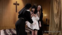 Two sisters anal punished nun