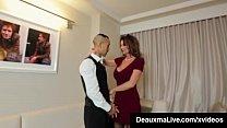 Horny Cougar Babe Deauxma Fucks Room Service Gu...