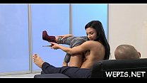 That babe gets massage with urina image