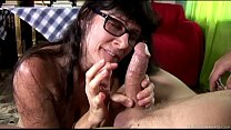 Cock hungry old spunker sucks and fucks for a m...