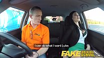 Fake Driving School Male Learner fucking his female driving examiner Preview
