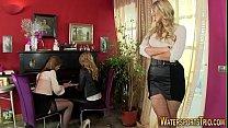Lesbian whores urinating porn image