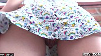 Closeup My Wet Young Pussy Upskirt