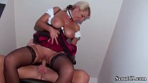 German Step Son Seduce Big Tit Mother in Lingerie to Fuck Vorschaubild