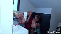 6632 German Step Son Seduce Big Tit Mother in Lingerie to Fuck preview