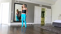 7630 Girlfriend in blue pantyhose fucking pov preview