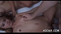 Experienced doxy enjoys getting an stylish dick...