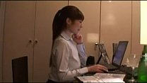 Hot secretary with perfect body