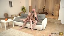 DADDY4K. Young skinny dollface has sex with old man in country house