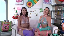 ALL ANAL Adira Allure and Leah Winters share a big dick