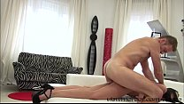 Cutie babe Layla takes Roccos cock deep on her ... thumb