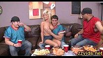 Hot blonde Tasha Reign fucks with boyfriend