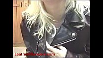 Jill showing off her favorite leather outfit - Download mp4 XXX porn videos