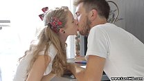 LustHD Blonde Russian student teen fucks her bo...