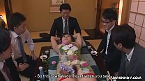 Sushi girl got her cunt creamed after the rough gangbang - 9Club.Top