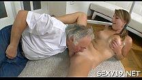 Babe is letting her older teacher taste her chaste slit