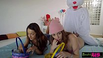Easter Egg Hunt Gets Bunny Fucked By Hot BFF And StepSis! S4:E10 video