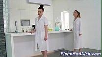 Nurse babes wrestling before lesbiansex's Thumb
