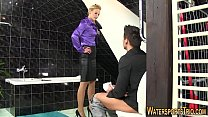 Cock riding ho pee soaked