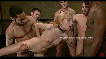 Blonde surprised with group of hard cocks in fetish extreme gang bang sex video Vorschaubild
