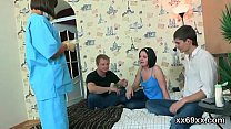 Stud assists with hymen examination and reaming of virgin cutie