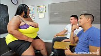 Screenshot Busty Black Bbw  Teacher Fucks 2 Hung Stud Stu 2 Hung Stud Students