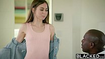 BLACKED Petite Riley Reid Tries Huge Black Cock In Her Ass