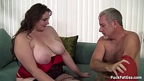 Beautiful BBW in Lingerie Stockings Hard Fucked thumb
