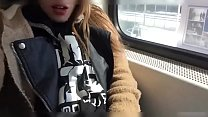 I'm So Horny! Showing Off and Masturbating in Public Train Part 1 - Watch Part 2 on AvalonPorn.com