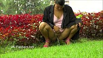 Amateur latina Beatriz public nudity and squirt...