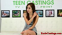 Amateur teen gagging on cock at sexaudition preview image