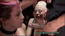 11043 Two slave lesbians in orgy humiliation preview