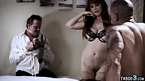 Busty MILF Housewife Fucks In Front Of Her Tied