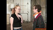 Dutch Teen With Glasses In Warehouse Thumbnail
