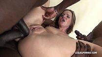 Interracial Porn Slut Sasha Zima DP'ed Balls Deep By Three Huge Black Dicks thumbnail